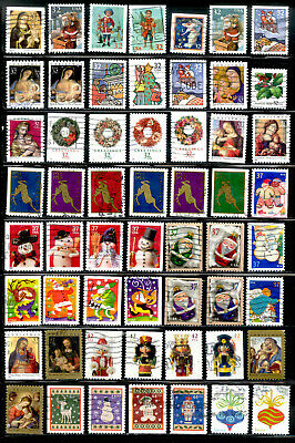 Merry Christmas 173 Stamps US Postage Lot Used
