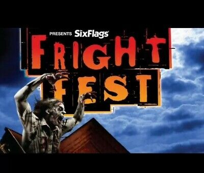 2 Tickets Fright Fest Six Flags Great Adventure