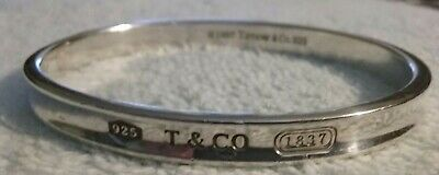 Authentic Tiffany & Co. 1837 Sterling Silver Bangle Bracelet 925