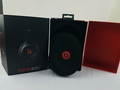 BOX and SOFT CASE ONLY (no headphones): Beats Solo2 (Black) Wireless