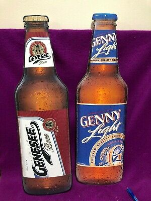 "Genesee  Beer Tin Metal Sign 24"" High tin Cut Out"