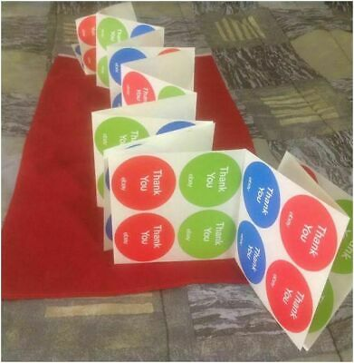 """100 Count 3-Color Round eBay-Branded Thank You Stickers Multi-Pack  3"""" x 3"""""""