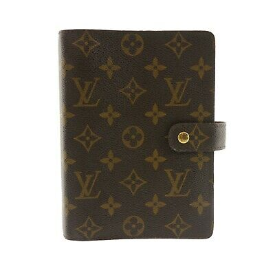 Auth LOUIS VUITTON Agenda MM Day Planner Cover Monogram Canvas R20004 #f34929