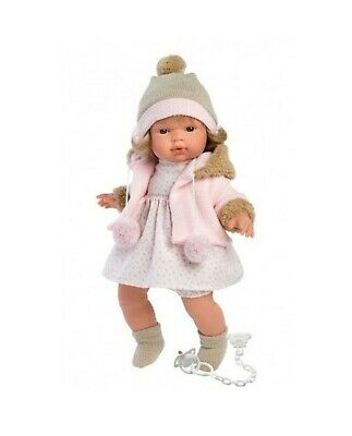 Llorens Doll Sophie Crying Soft Body Toddler Girl 38cm New 38560
