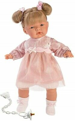 Llorens Doll Emma Crying Soft Body Toddler Girl 38cm New 38336