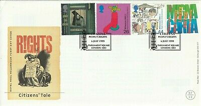 6 July 1999 Citizens Tale Royal Mail Unad First Day Cover  Parliament Square Shs