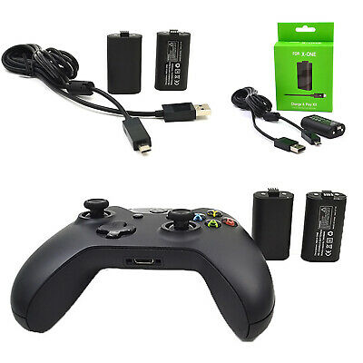 Wireless Controller Battery Charging Cable Set Play and Charge Kit for XBOX ONE