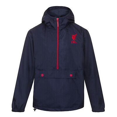 Liverpool FC Official Football Gift Mens Shower Jacket Windbreaker