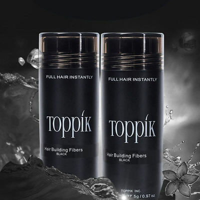 2Pcs Toppik Hair Loss Building Fibers 27.5G in 5 days in USA Free Fast Shipping