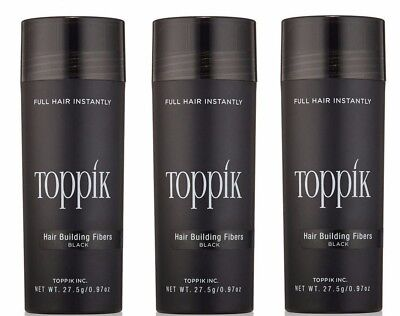 3Pcs Toppik Hair Loss Building Fibers 27.5G in 5 days in USA Free Fast Shipping