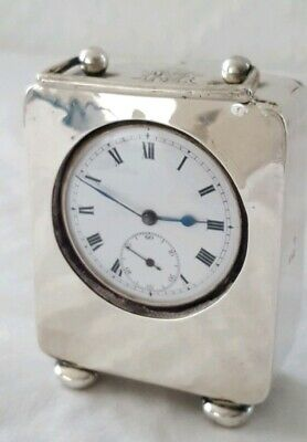 Silver Miniature carriage clock