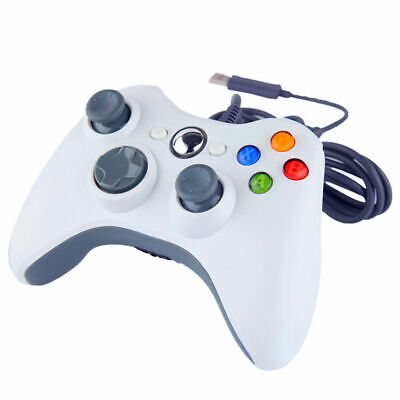 Replacement White Wired Controller Gamepad for Microsoft Xbox 360 PC Windows