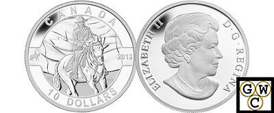 2013 'RCMP - O Canada' Proof $10 Silver Coin .9999 Fine (NT) (13120)