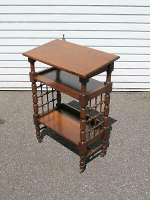 Smart Antique Arts & Crafts Oak Reading Table / Etagere Attrib L Wyburd Libertys