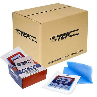 144 TCP Global Pure Blue Tack Cloths, Remove Dust Sanding Particles, Woodworking