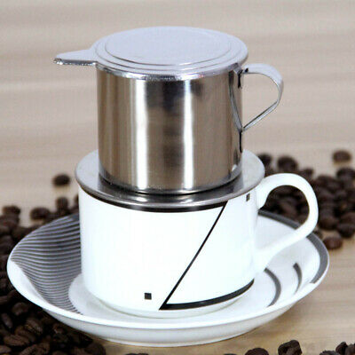 Stainless Steel Vietnamese Coffee Drip Filter Press Maker Single Cup for Office