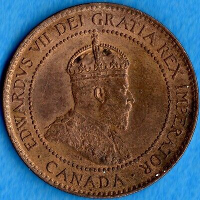 Canada 1902 1 Cent One Large Cent Coin - Uncirculated+