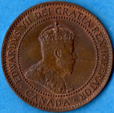 Canada 1910 1 Cent One Large Cent Coin - MS-62
