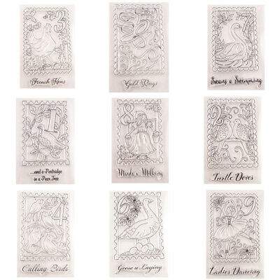 1PC Christmas Clear Stamps Transparent Silicone Stamps DIY Scrapbook Album Decor