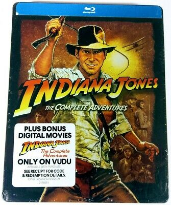 Indiana Jones: The Complete Adventures (Limited Edition Steelbook) Blu-Ray New