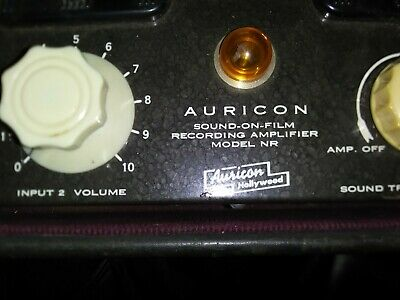 Auricon Berndt-Bach sound on tape recording amplifier Model NR-24(vintage audio)