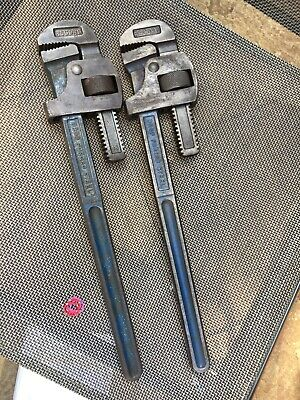 """2 X RECORD 18"""" STILSONS RECORD Adjustable PIPE GRIPS"""