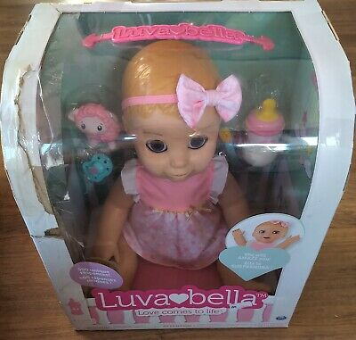 LUVABELLA interactive baby doll blonde hair + free batteries! Minor box damage