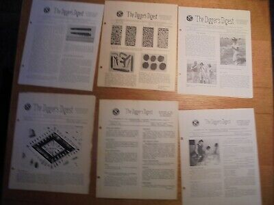 Lot of 6 Diggers Digest No. California Archaeological Society Newsletter 1963