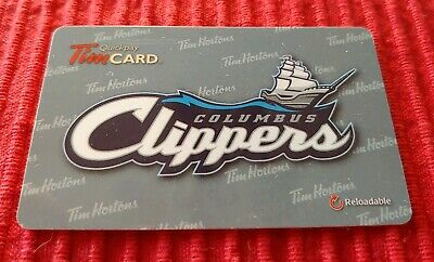 Tim Hortons Columbus Clippers Gift Card Zero $ Value