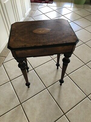 Vintage Mid-19th Century Sewing Stand End Table