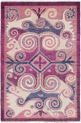 """Casual, Transitional Hand-knotted Area Rug 5'1"""" x 7'9"""" Shalimar Wool Rug"""
