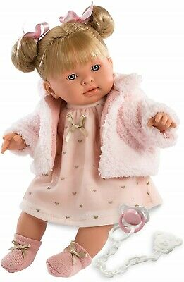 Llorens Doll Alexandra Crying Soft Body Toddler Girl 42cm New 42258