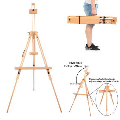 Portable Beech Wood Tripod Artist Sketch Painting Easel Adjustable Frame Stand