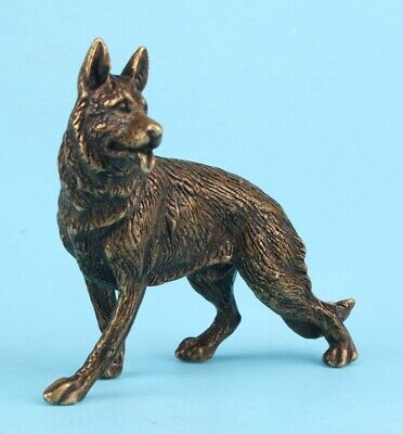 Old Bronze Hand-Cast Wolf Statue Cool Gift High-End Decora