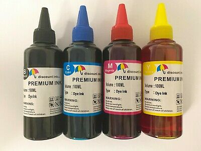 Bulk refill ink kit Fit Epson 702 Xl T702 For WorkForce Pro WF-3720 400ml