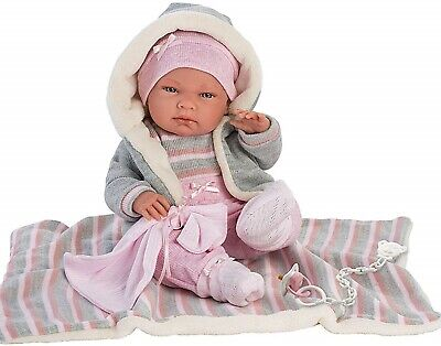 Llorens Doll Baby Zoe Infant Girl with Blanket Wrap 40cm New 73858