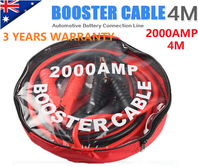 2020 Heavy Duty 2000AMP Jumper Leads Jump 4m LONG Booster Cable Surge Protected