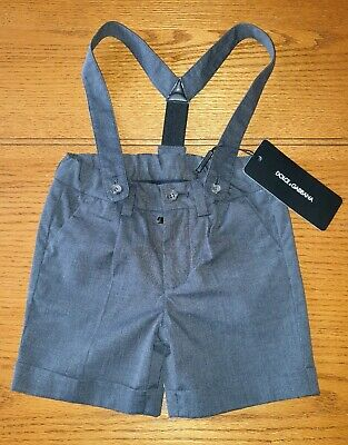Dolce & Gabbana D&G Boys Short Trousers With Braces - Age 6-9 Months - BNWT!
