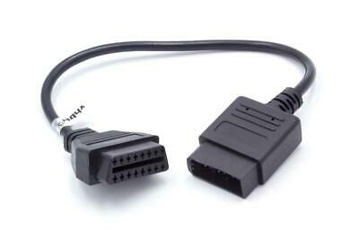 PKW Diagnose Adapter OBD1 / OBD2, 14pin >>> 16pin, 30cm