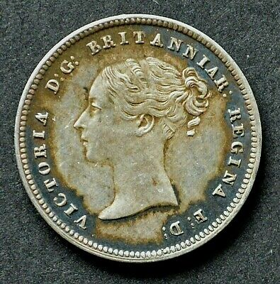 Victoria 1845 Young Head Maundy Fourpence.       R1-619