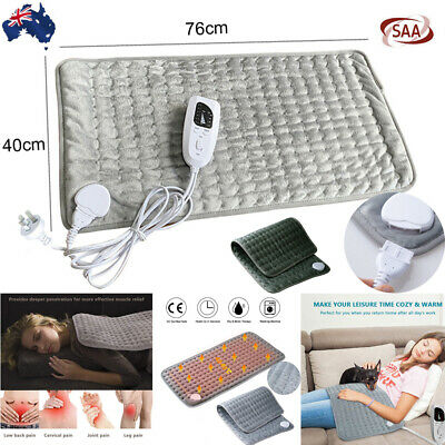 Electric Heating Pad Heat Therapy Fast Body Neck Shoulder Pain Relief Auto Off Z