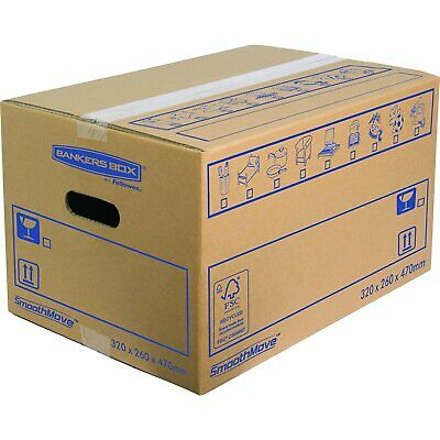 BANKERS BOX Small Heavy Duty Transit Removal Cardboard Removal Box - 10 Pack