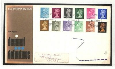 GB FIRST DAY COVER Bristol Decimal Definitives FDC 1971 {samwells-covers}AO208