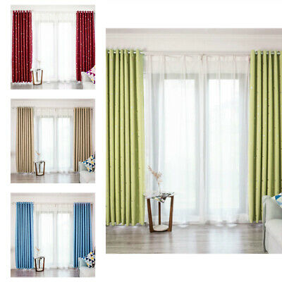 Light Proof Curtains Solid Color Room Window Drape Space Blackout Design 1 Panel