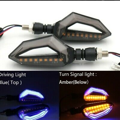Universal Motorcycle 12 LED Turn Signal Lights Blinker Front Rear Lights