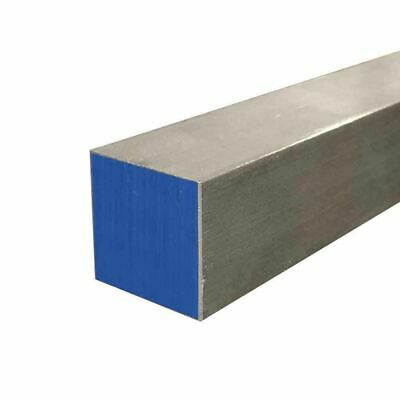 "304 Stainless Steel Square Bar, 3/8"" x 3/8"" x 12"""