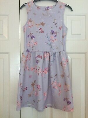 Next Girls Party Dress Age 9 Years Purple Lilac Floral