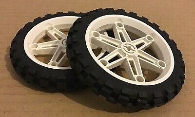 x 6mm City Motorcycle moto rouge//red 50862 NEUF Lego 2x roue jante wheel 15mm D