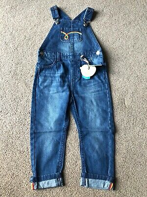 Little Bird By Jools Oliver Denim Dungarees Retro 2-3 Years Boys Girls