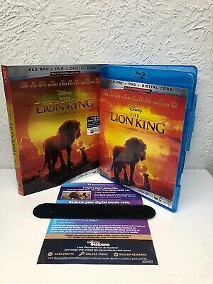 LION KING 2019 Blu Ray + Digital HD (NO DVD INCLUDED) Live Action, Read Desc